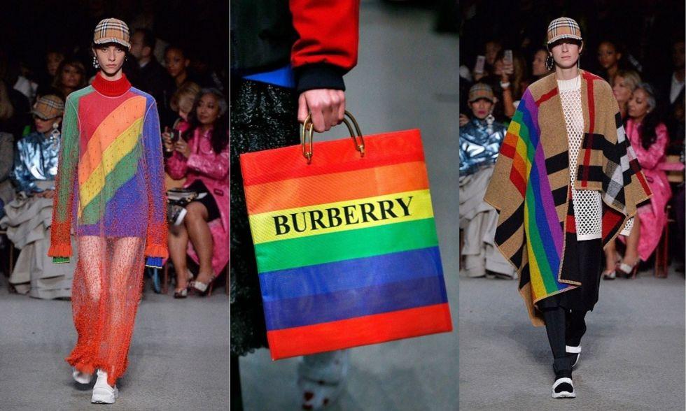 而這次系列最大的重點,就是滿滿彩虹花樣背後的意義。彩虹遍佈於系列的各種單品上,裙裝、毛衣、斗篷、皮鞋、包款,使整個系列盈滿歡樂氣息。代表LGBTQ+族群的彩虹,正是Bailey透過系列向世界表達對多元族群、文化的支持。